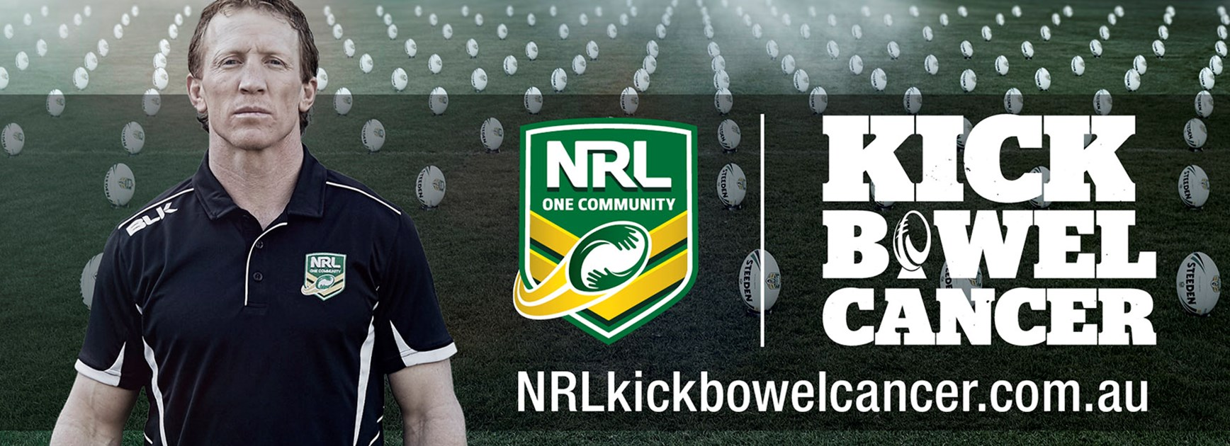 Former Canberra Raiders captain Alan Tongue is an ambassador for NRL Kick Bowel Cancer.