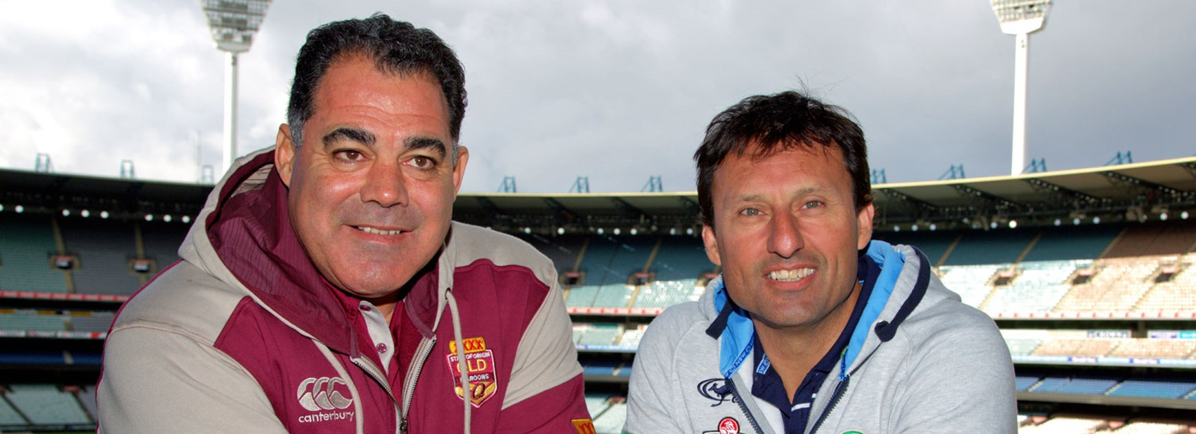 State of Origin coaches Mal Meninga and Laurie Daley.