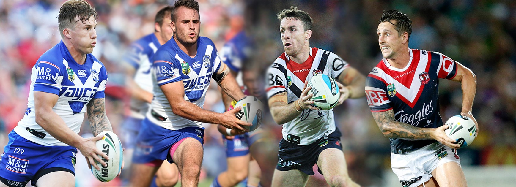 Is Friday night's blockbuster between the Bulldogs and Roosters an Origin halves shoot-out?