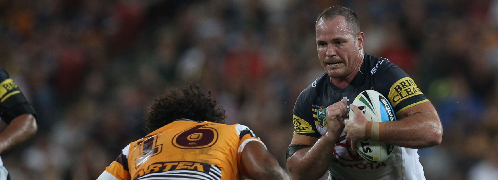 Test and Origin teammates Matt Scott and Sam Thaiday go head-to-head on Friday night.