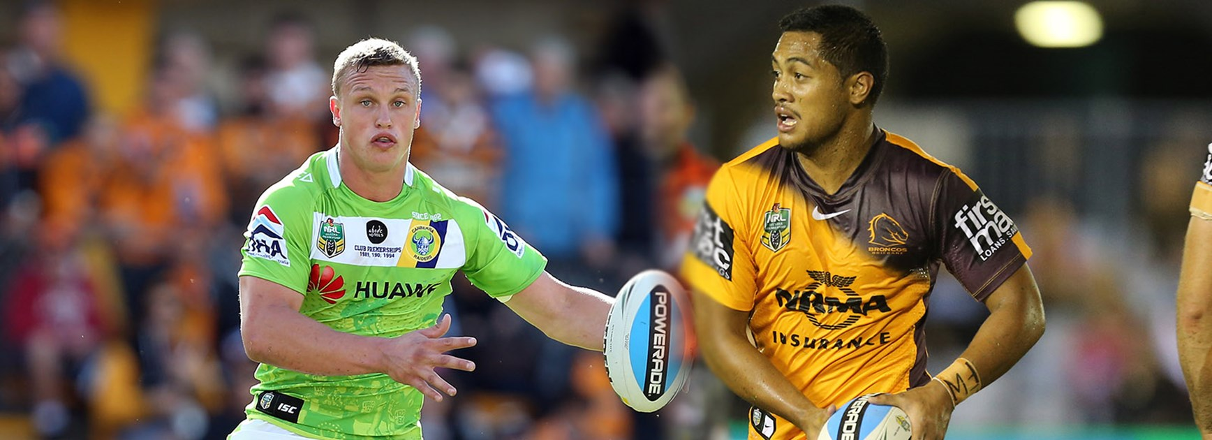 Exciting youngsters Jack Wighton and former Raider Anthony Milford are set to put on a show on Saturday night.