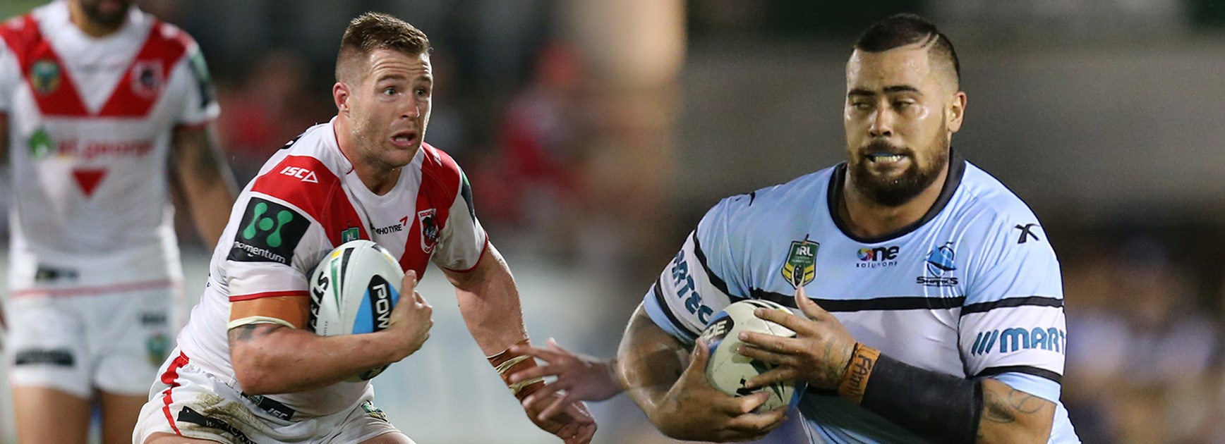 Once were brothers: NSW forwards Trent Merrin and Andrew Fifita will clash in the local derby.