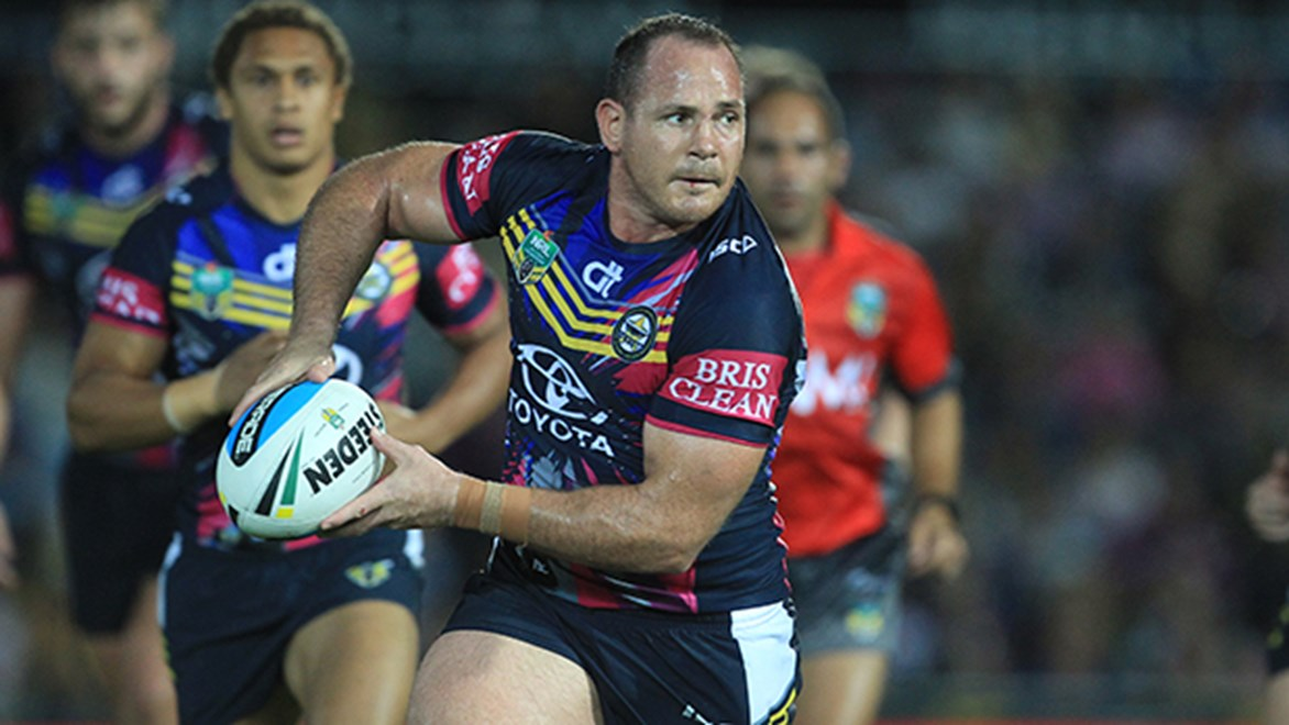 North Queensland's Matt Scott combines the usual power and tackling of a prop with silky ball-playing.