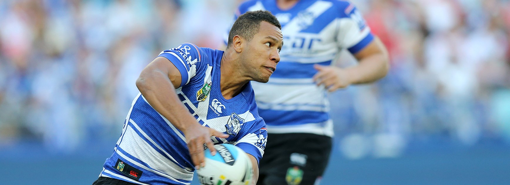 Moses Mbye starred in the Bulldogs' victory over the Dragons in Round 13 of the Telstra Premiership.