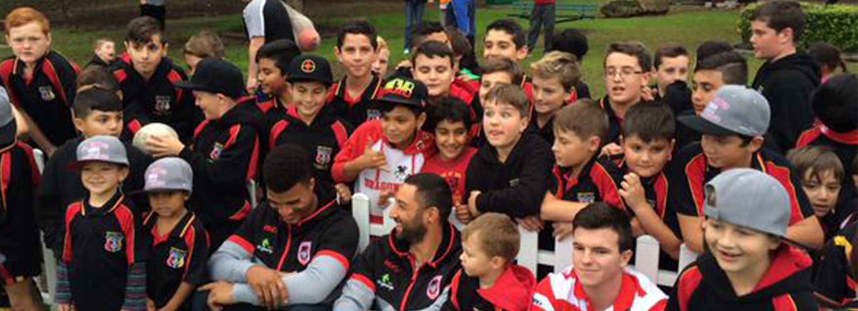The Dragons visited junior clubs this week.