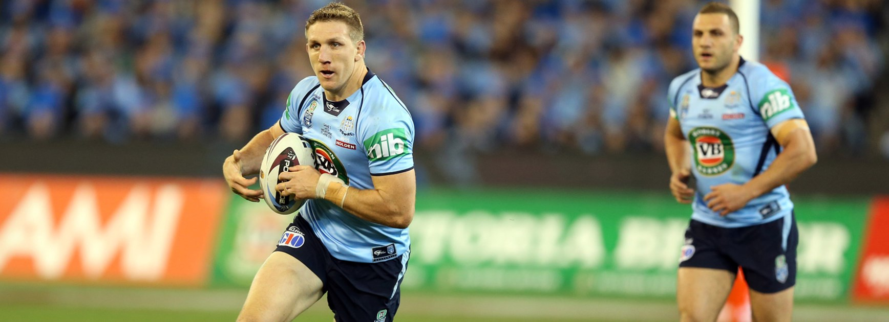 Blues back-rower Ryan Hoffman terrorised Daly Cherry-Evans in Origin II at the MCG.