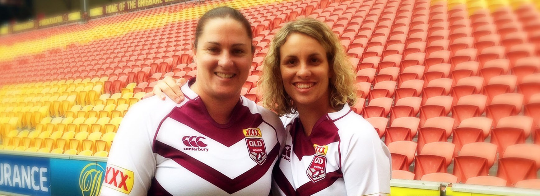 Queensland captain Steph Hancock and stalwart Tarah Westera love playing in the Maroons jersey.