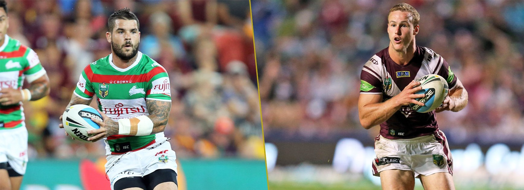 Battle of the halfbacks: Adam Reynolds and Daly Cherry-Evans.