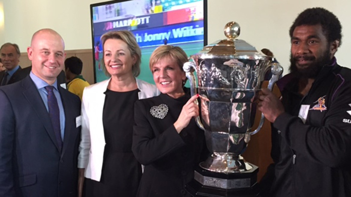 Deputy Leader of the Liberal Party Julie Bishop at the launch of the Australian Sports Diplomacy Strategy.