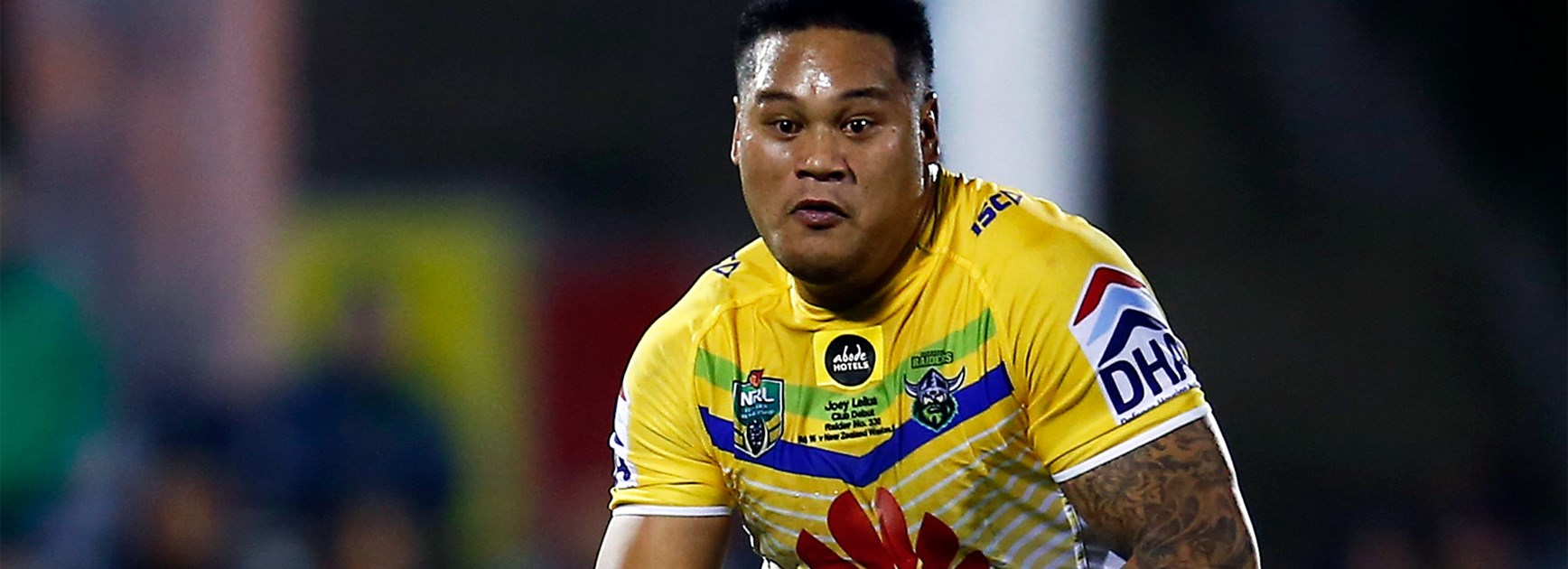 Mid-season signing Joseph Leilua made his Canberra Raiders debut on Saturday.