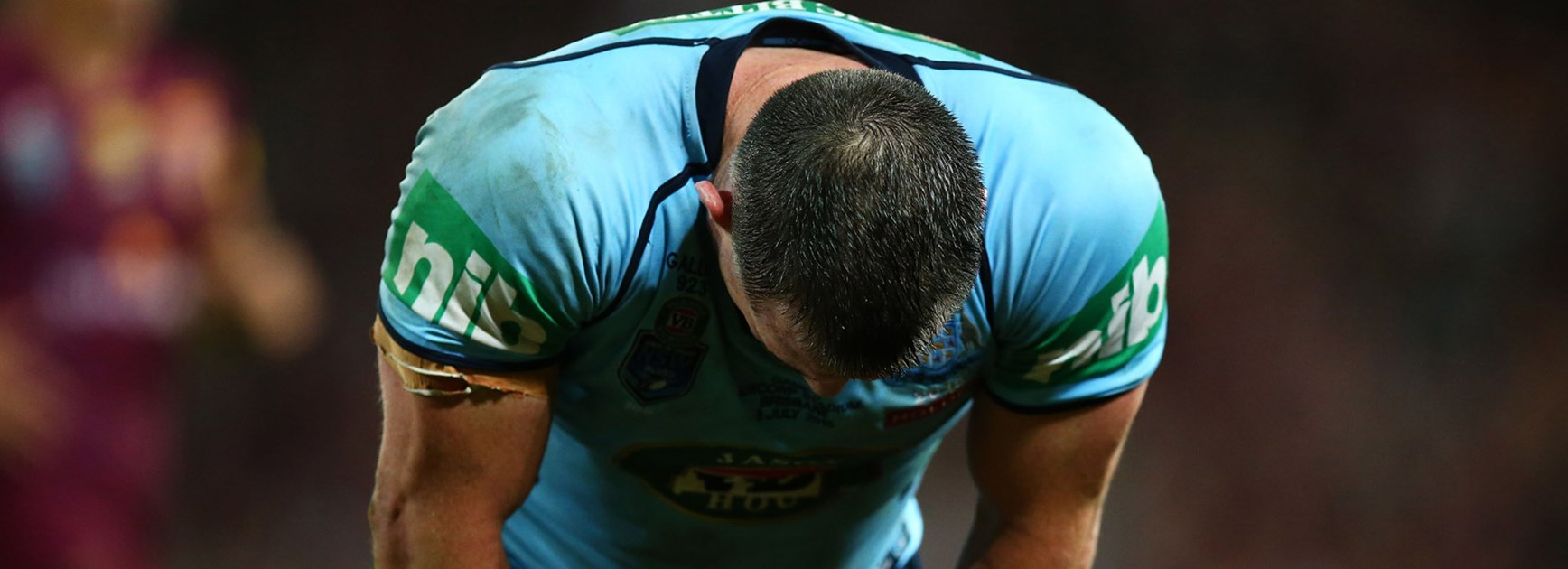 Paul Gallen dejected following his side's loss in Game Three.