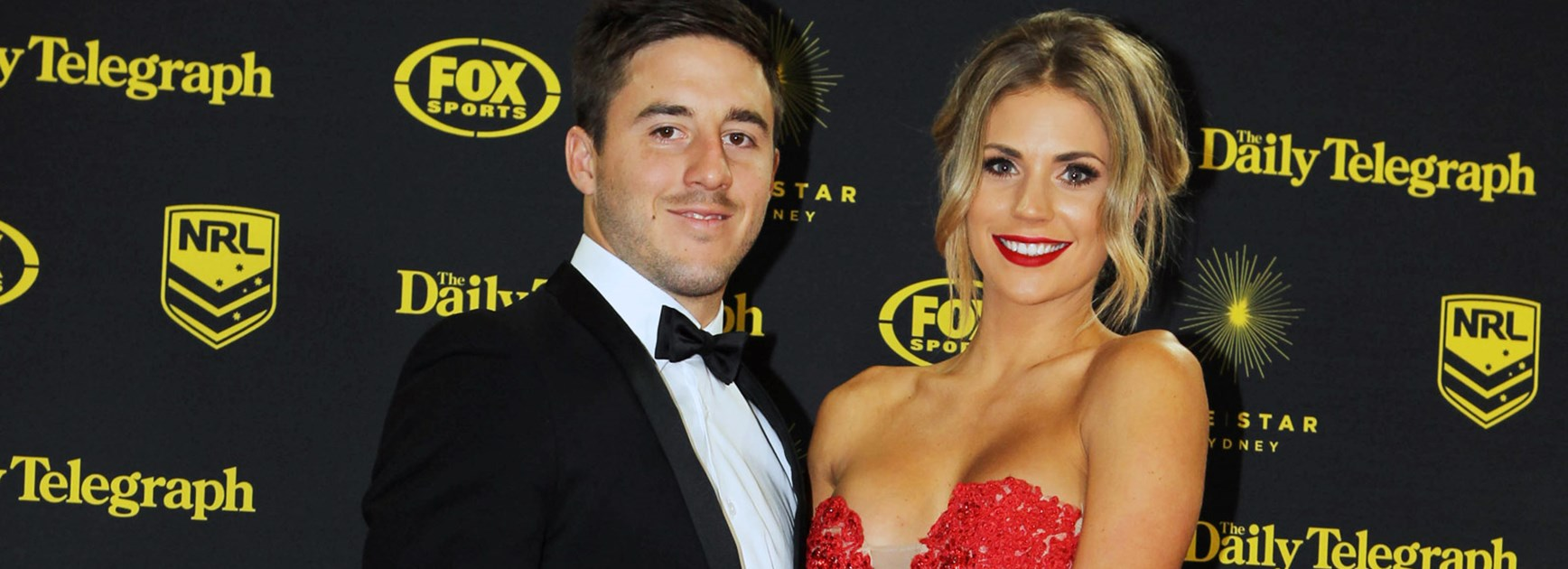 Bronco Ben Hunt with partner Bridget Hagan at the Dally M Awards last year.