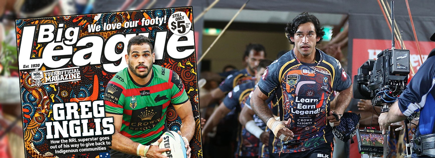 Indigenous All Stars captain Johnathan Thurston is very active in promoting Indigenous issues.