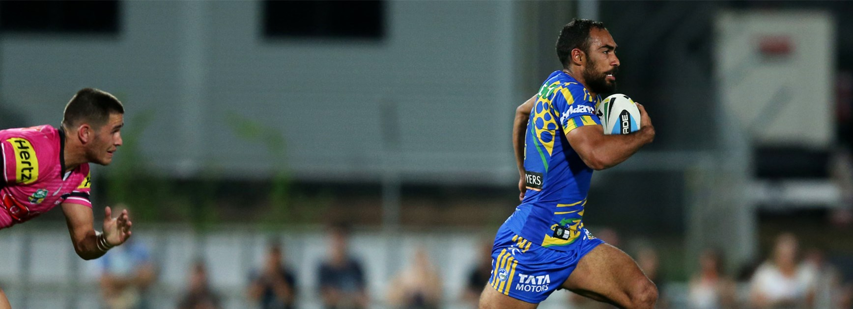 Reece Robinson runs away to score the match-winner against Penrith in Darwin on Saturday.