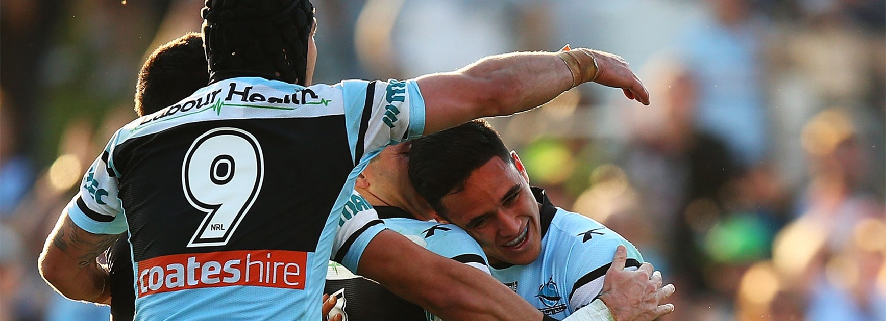 Valentine Holmes played a starring role for the Sharks against the Tigers on Saturday.