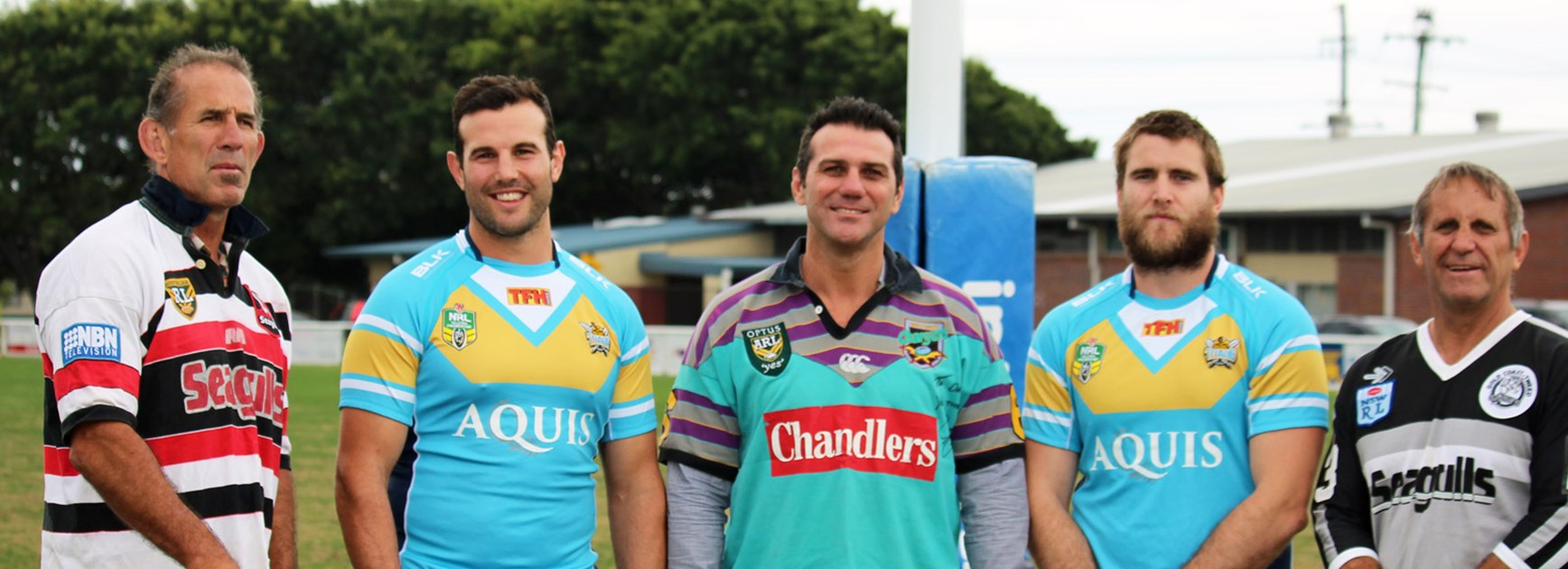 Members of all four Gold Coast teams will form a guard of honour for the Titans when they run out on Sunday.
