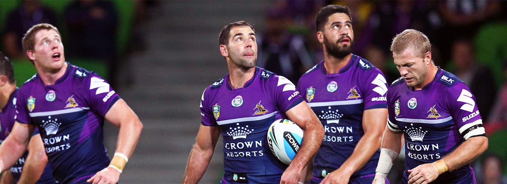 Things are looking up: Cameron Smith and the Melbourne Storm.