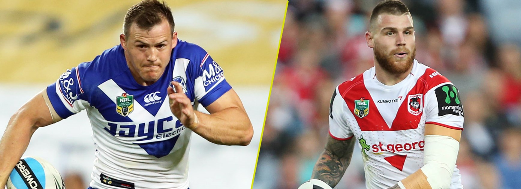 NSW teammates Brett Morris and Josh Dugan will line up against each other on Saturday night.