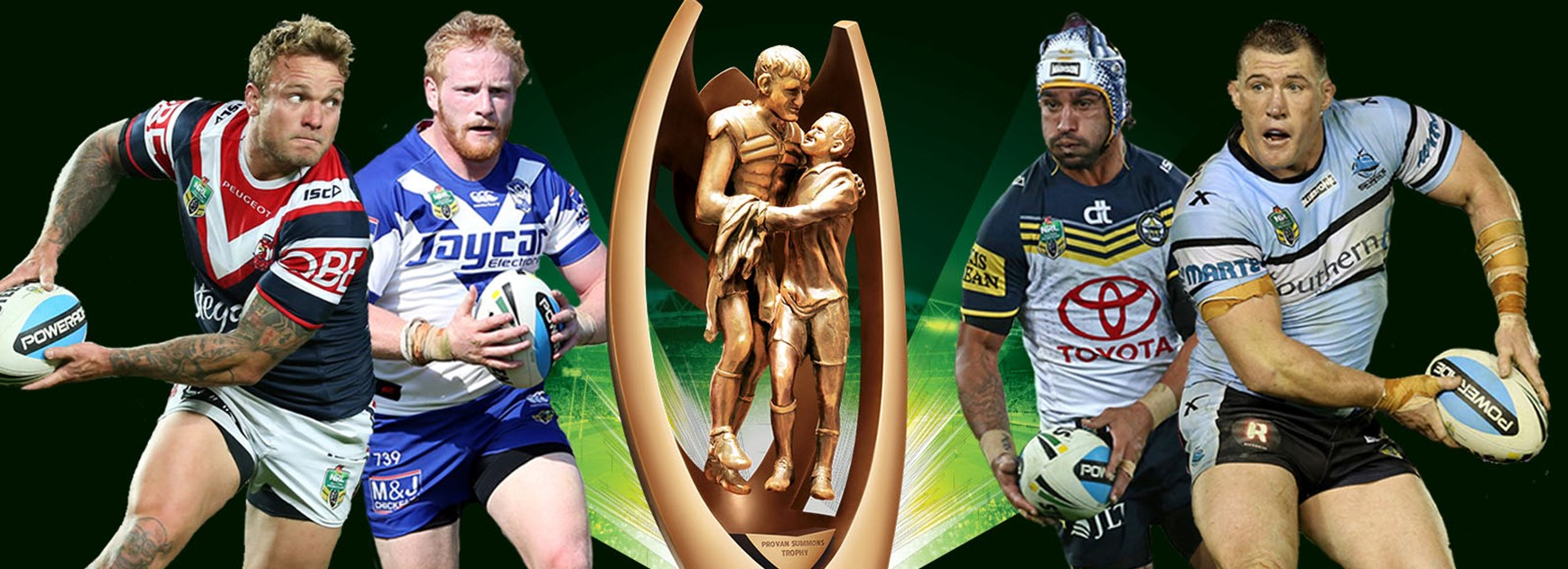 The Roosters will clash with the Bulldogs, while the Cowboys will host the Sharks.