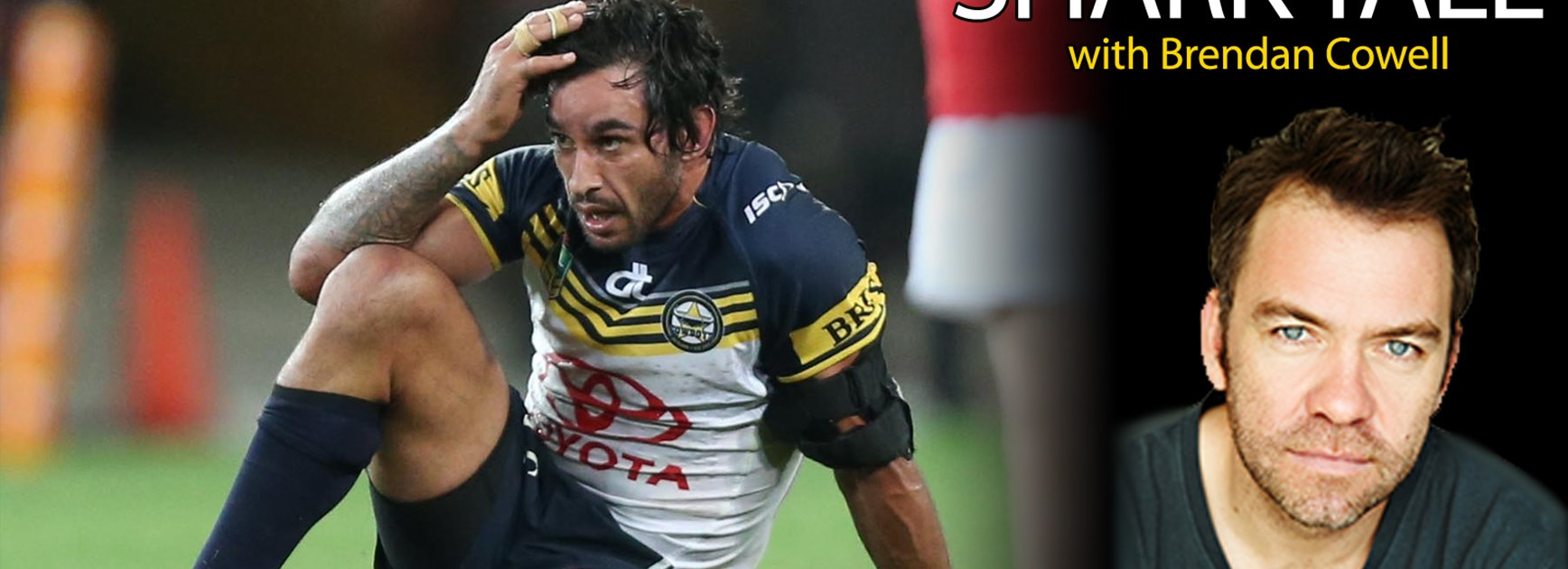Johnathan Thurston at the end of the Cowboys' Week 1 finals loss to Brisbane.