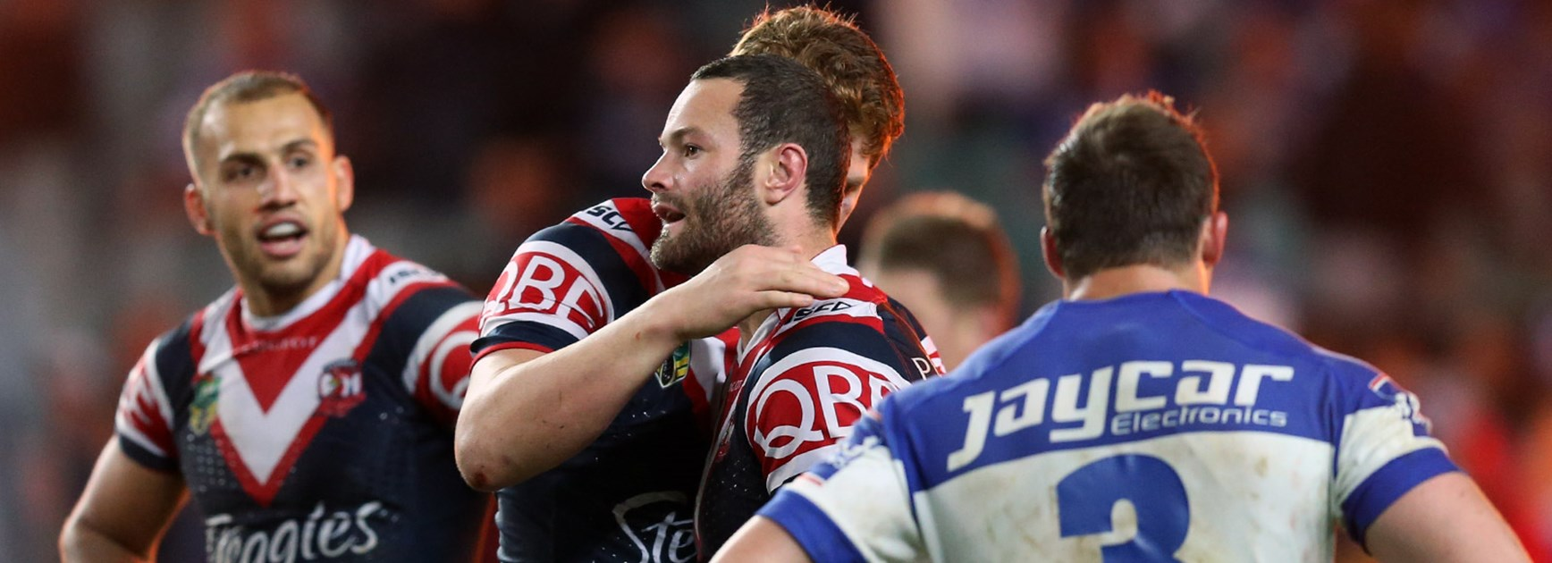 Boyd Cordner scored a try in the Roosters' semi-final win over the Bulldogs.