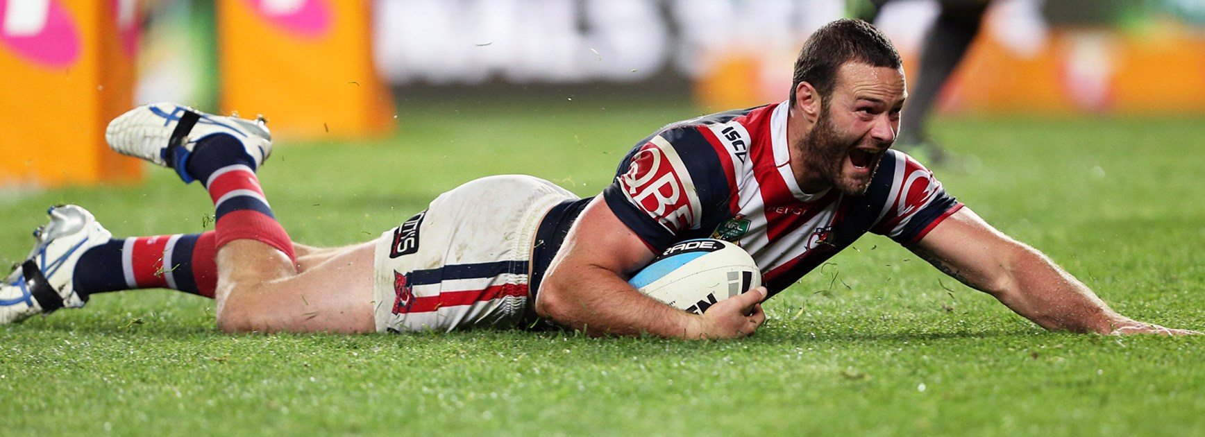 Boyd Cordner crossed for a try against the Bulldogs in their semi-final clash.