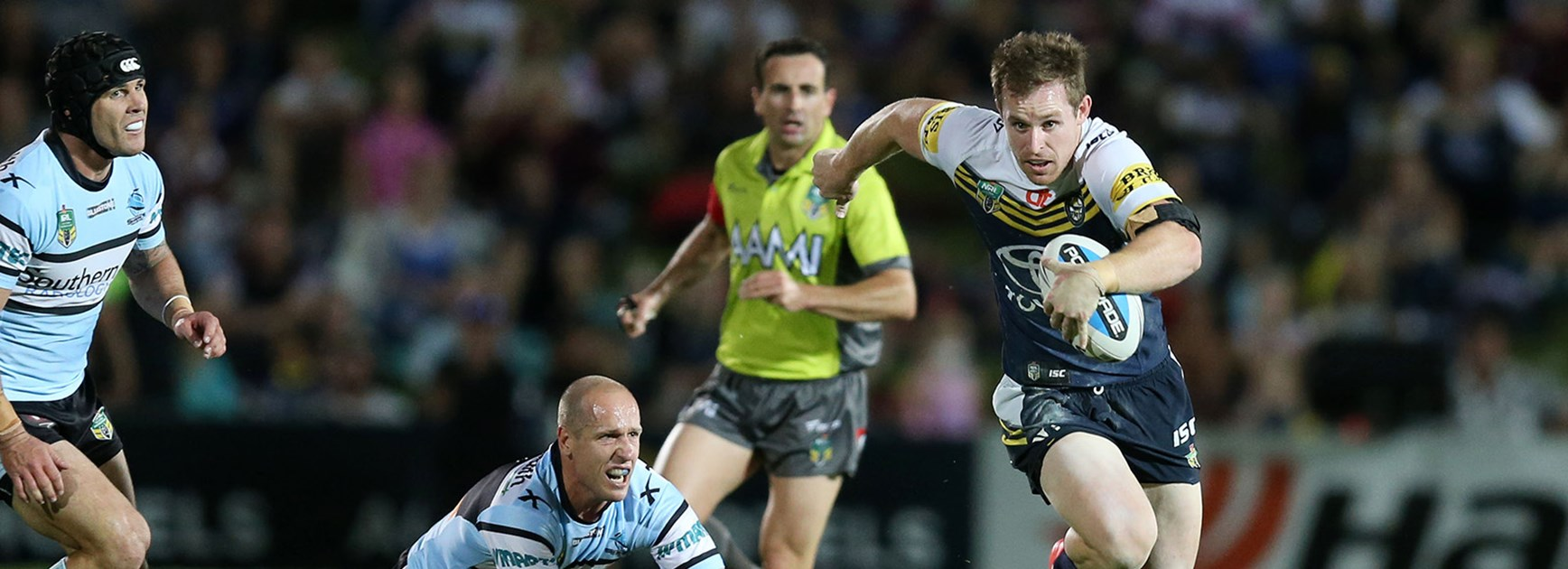 Cowboys five-eighth Michael Morgan played a starring role in his side's semi-final win over the Sharks.
