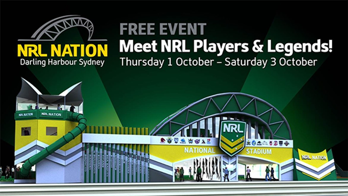 Meet NRL players and legends at NRL Nation, Darling Harbour.