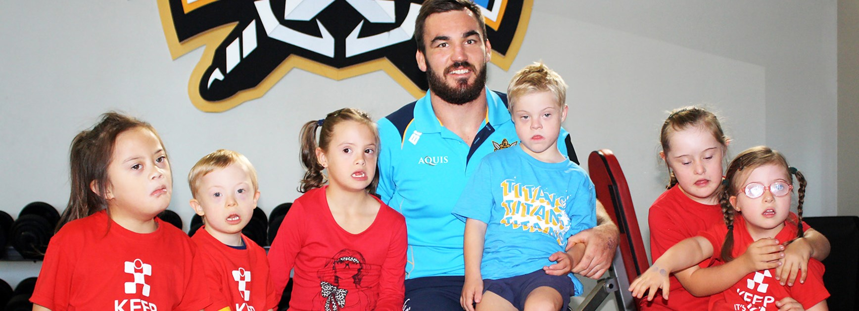 Titans forward Luke Douglas won the 2015 Ken Stephen Medal for his outstanding work in the community.