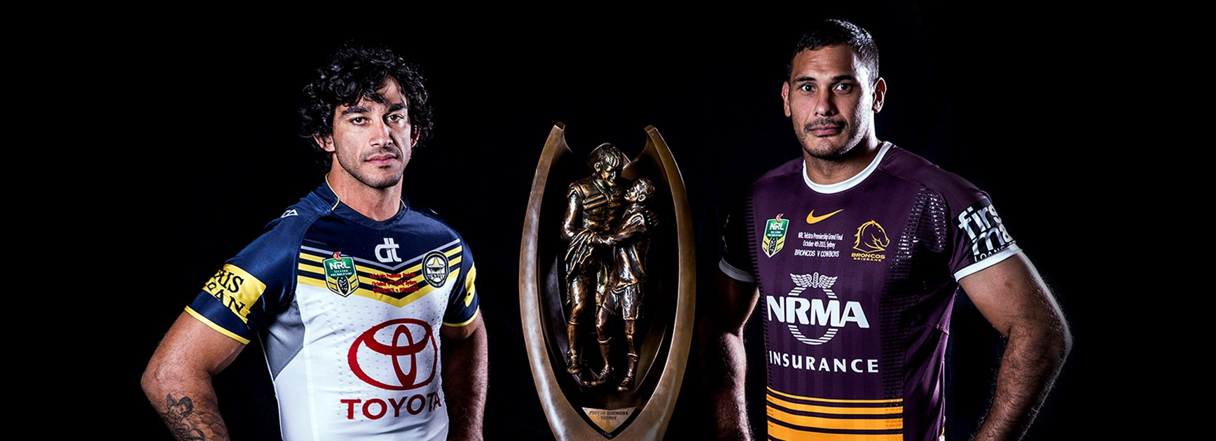 Will it be Johnathan Thurston or Justin Hodges who lifts the Provan-Summons Trophy on Sunday night?