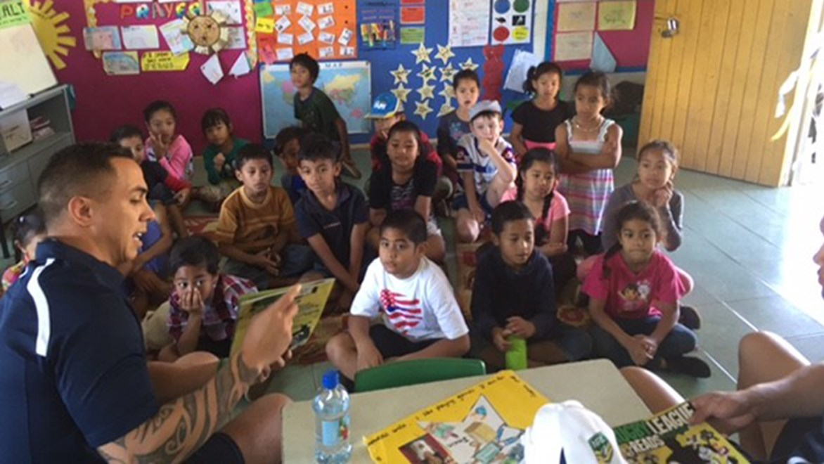 The CAS touring team delivered the Rugby League Reads program to 118 Primary School students in Tonga.