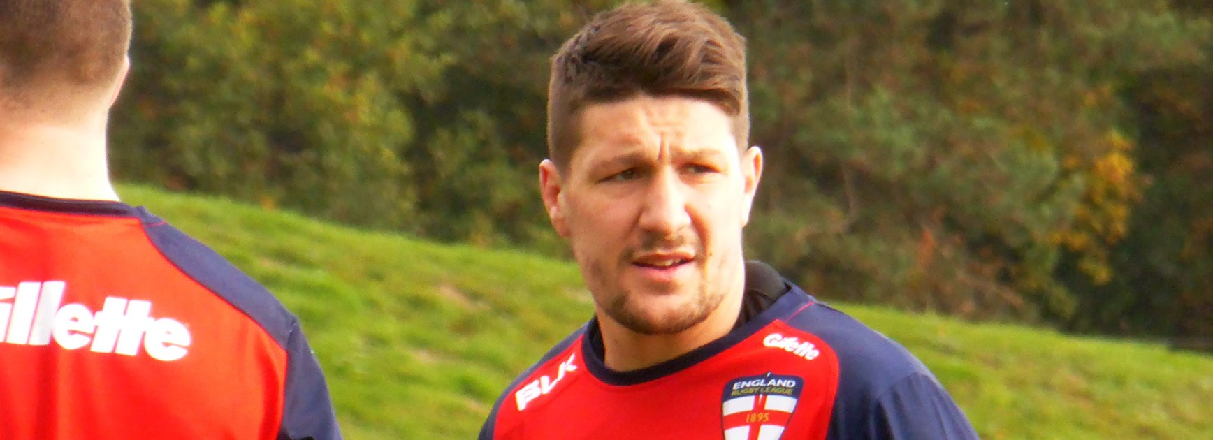 Gareth Widdop training with the England squad ahead of the upcoming series against New Zealand.
