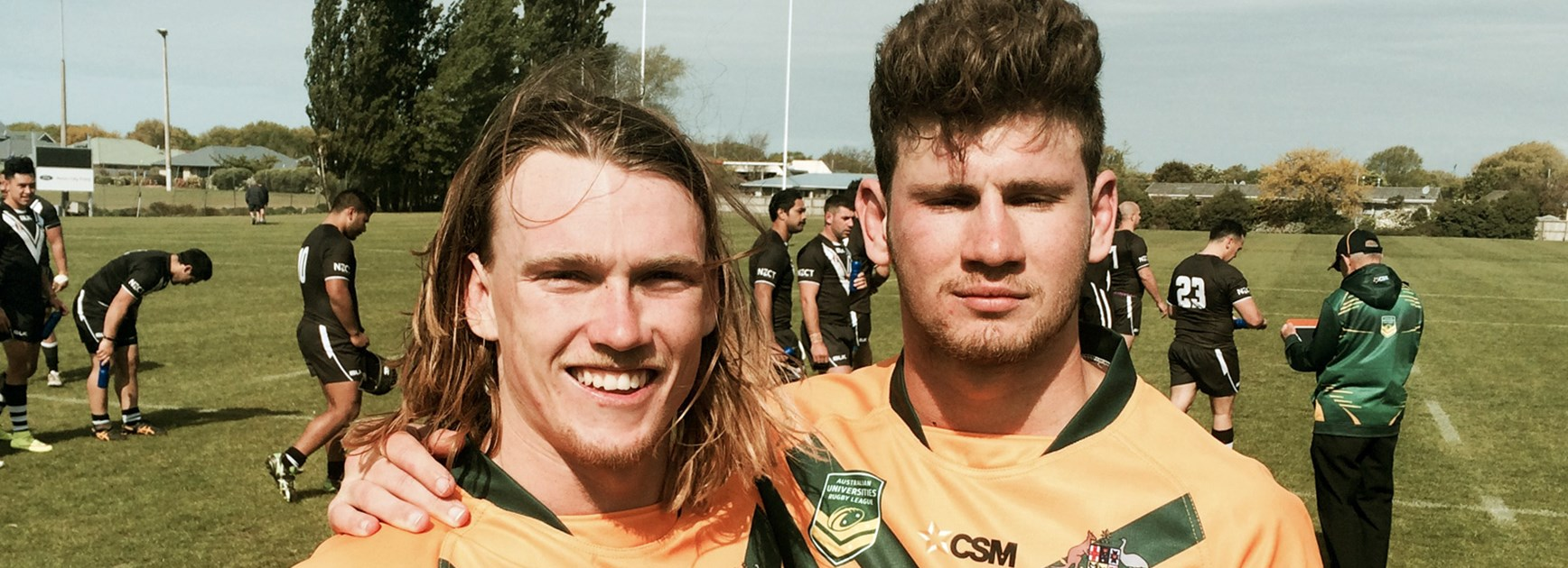 Redcliffe pair Mitch Wilson (left) and Nick Timm starred for Australian Universities on their tour of New Zealand.