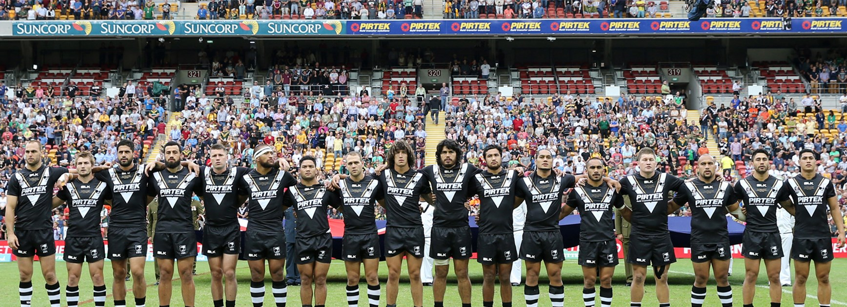 The Kiwis line up ahead of this year's Anzac Test against Australia.