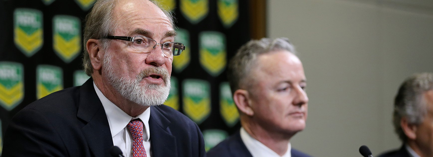 ustralian Rugby League Commission Chairman John Grant announces the new tv deal worth over 1.8 billion dollars.
