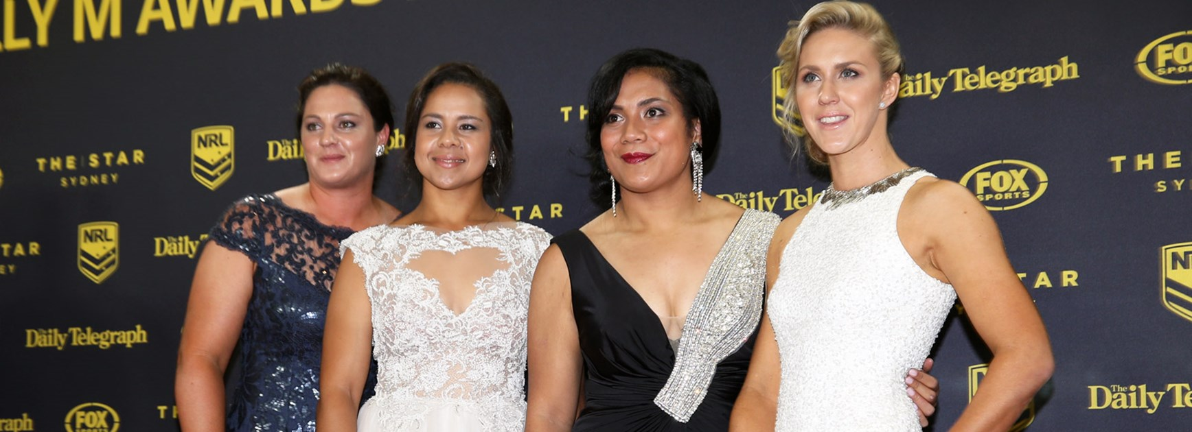 Jillaroos Steph Hancock, Jenni-Sue Hoepper, Simaima Taufa and Karina Brown were the nominees for the inaugural Dally M Female Player of the Year last year.