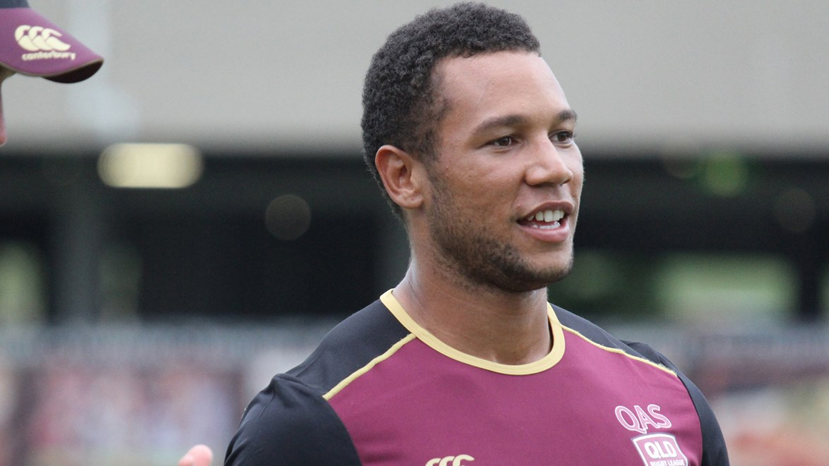 Moses Mbye at Queensland's emerging Origin camp.