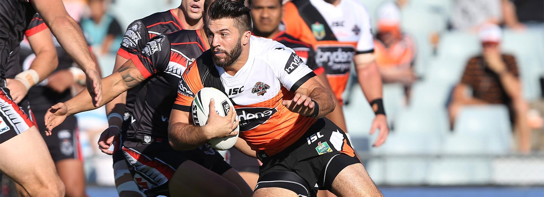 James Tedesco was one of several standouts for the Tigers against the Warriors in Round 1.
