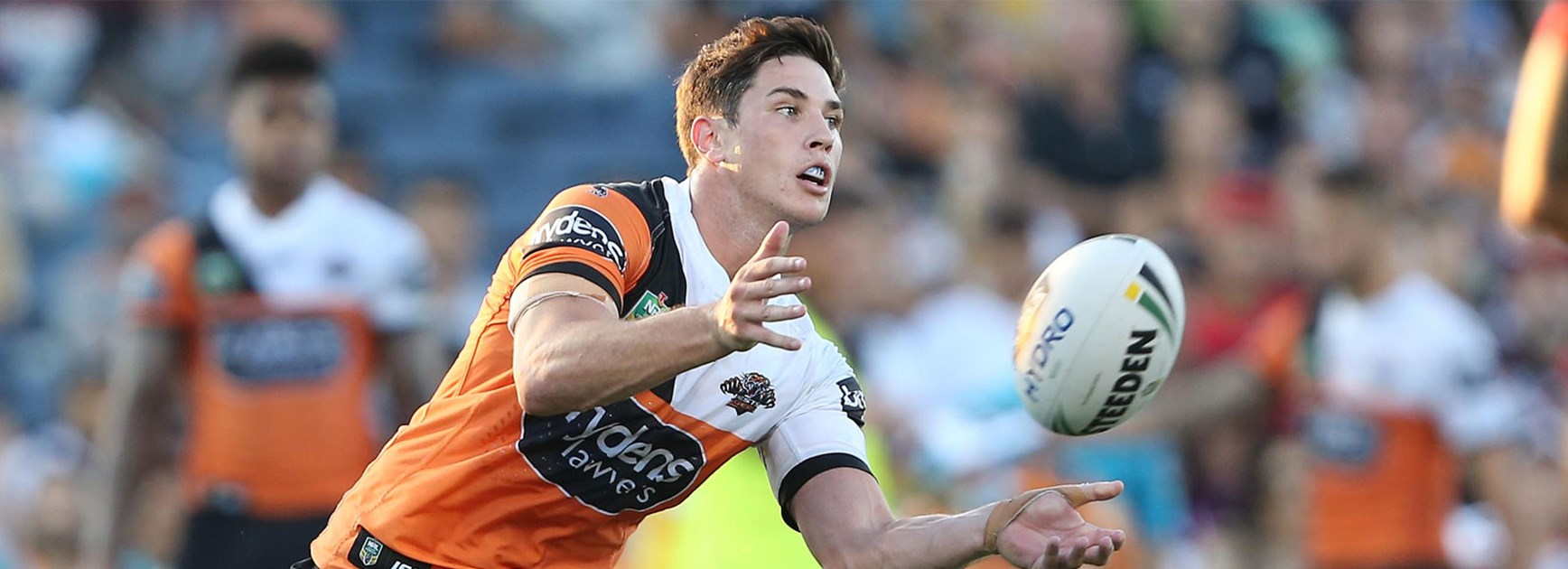 Mitch Moses was outstanding for the Tigers against the Warriors on Saturday.