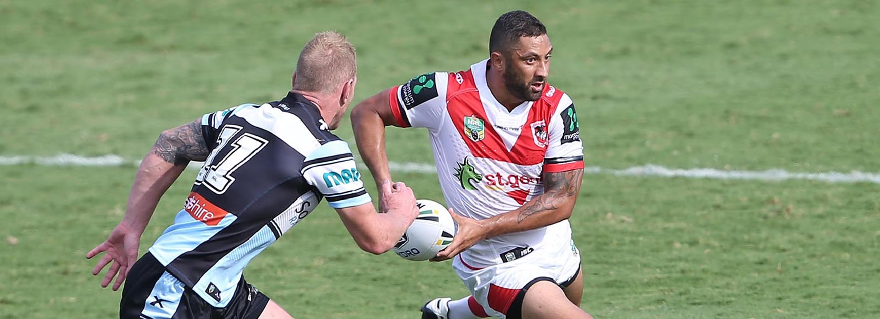 Benji Marshall showed glimpses of his best against the Sharks in Round 2.