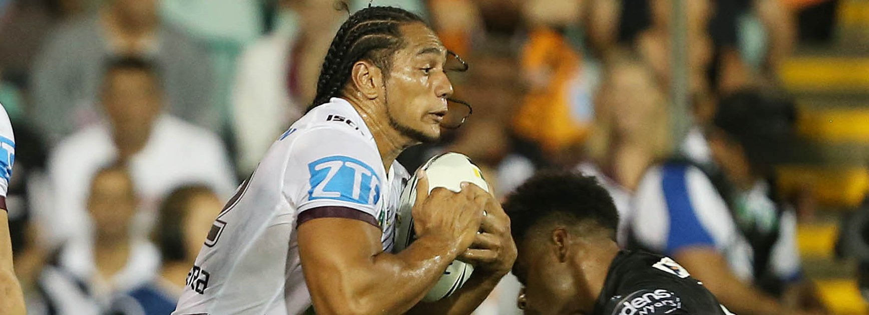 Manly recruit Martin Taupau had a massive game against his former Wests Tigers at Leichhardt Oval.