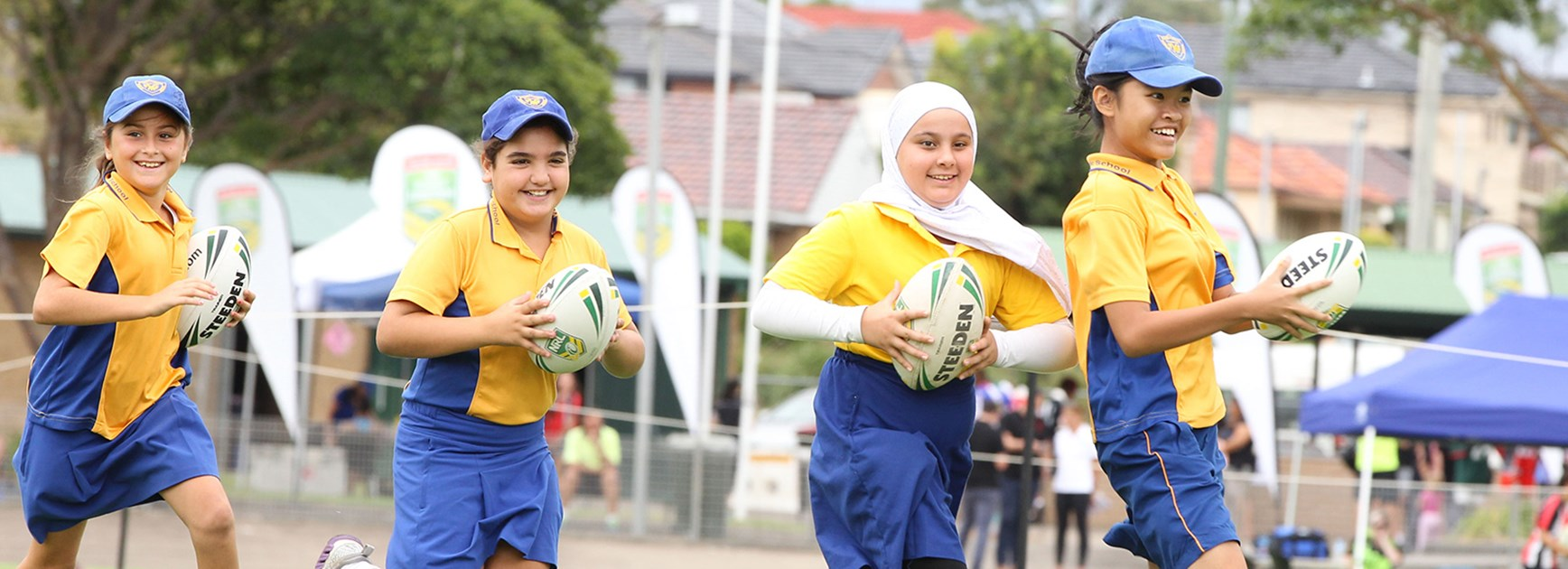 Children from many cultural backgrounds came together for Play NRL Harmony Day.