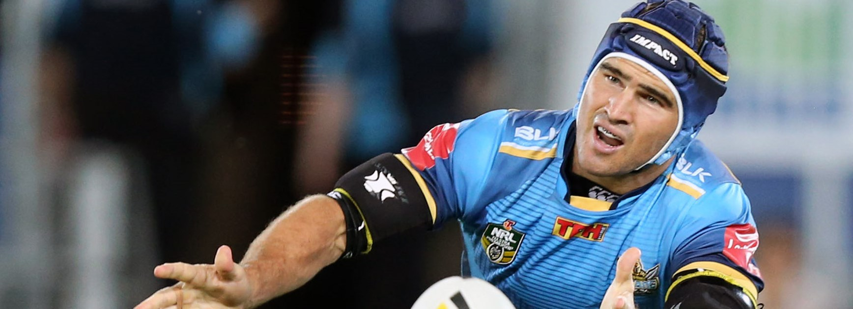 Titans captain Nathan Friend in action for Gold Coast.