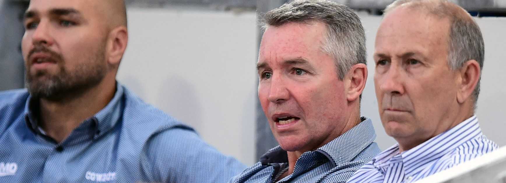 Cowboys coach Paul Green looks on during his side's Round 4 meeting with the Broncos.