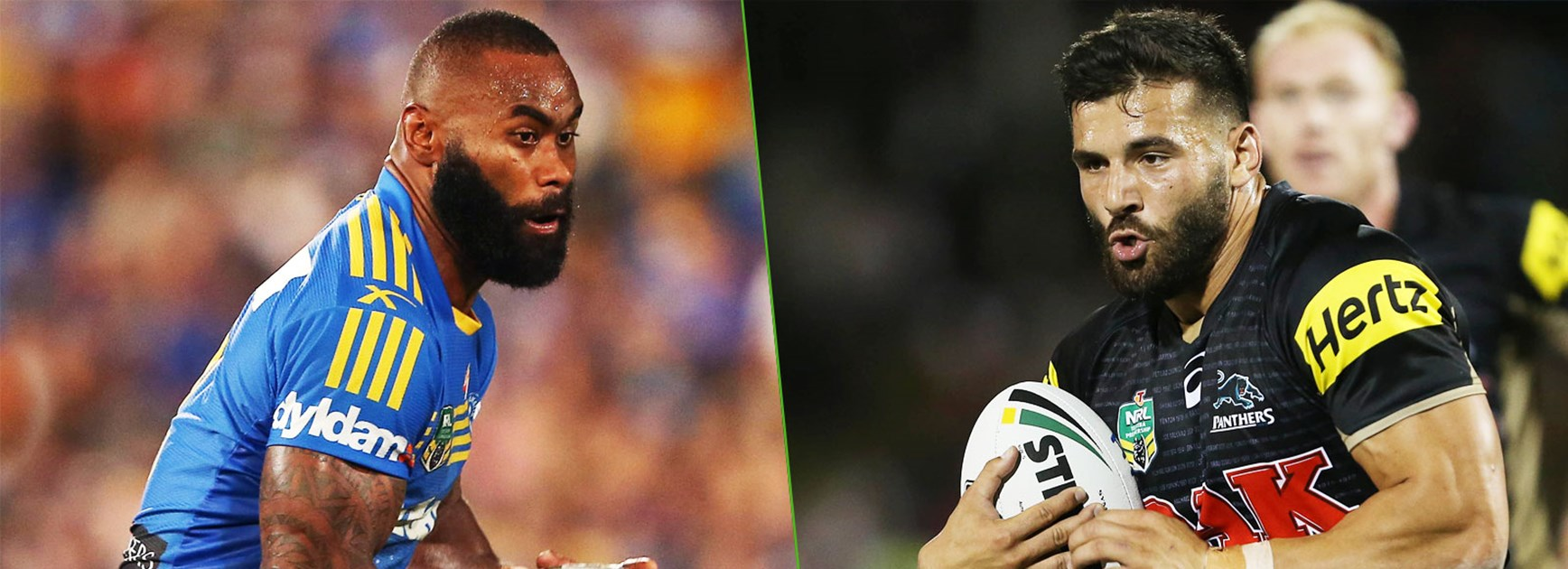 Hard-running wide men Semi Radradra and Josh Mansour will be on the hunt for tries on Sunday.