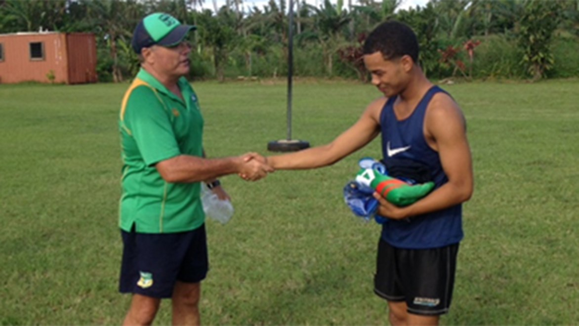 Alani Taumoepeau is a more-than-worthy recipient of the inaugural NRL in Tonga Volunteers Award.