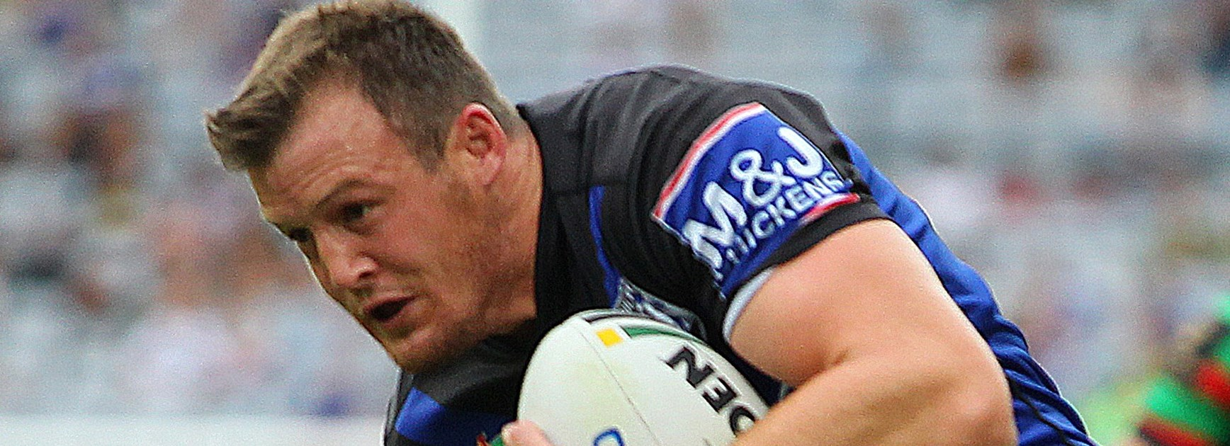 Josh Morris scored a double during his 200th NRL match against the Rabbitohs on Good Friday.