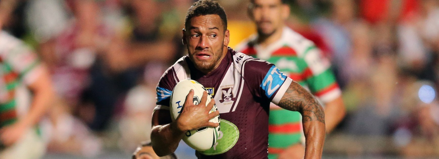 Sea Eagles halfback Apisai Koroisau scored a try against Souths in Round 5.