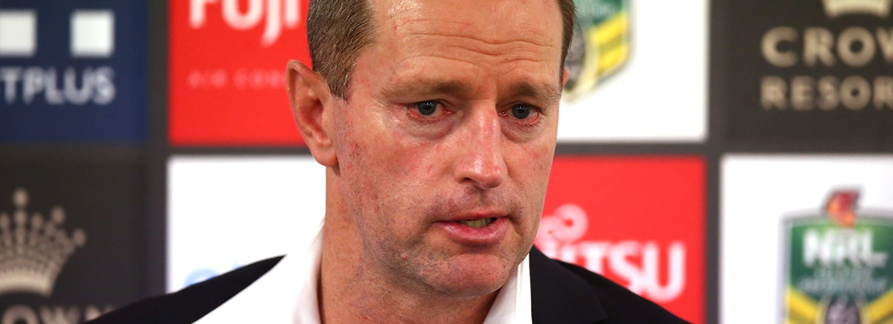 Rabbitohs coach Michael Maguire after his side's Round 6 loss to the Roosters.