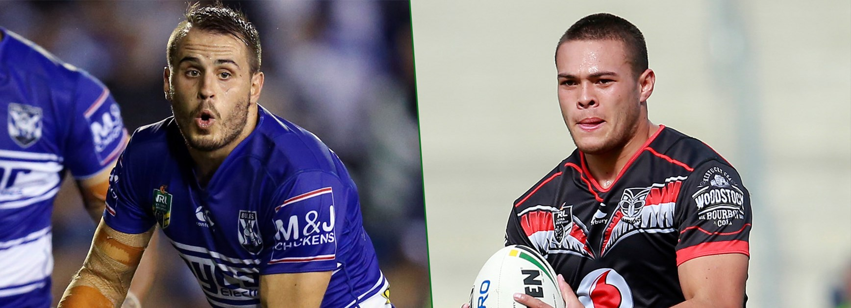 Josh Reynolds will line up against the Warriors' new five-eighth Tui Lolohea this week.
